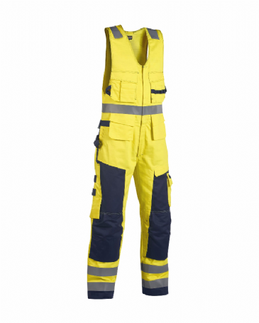 Blaklader 2678 Multinorm Sleeveless Coverall (Yellow/Navy Blue)